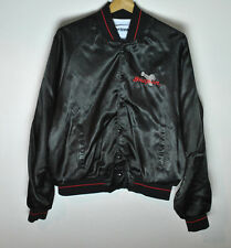 Vintage Snap On Tools Embroidered Satin Coaches Jacket Black size Large