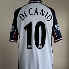 West Ham United Away Football Shirt Adult Large DI CANIO #10 1999/2001