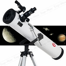 New 700x76mm Reflector Telescope with Tripod and Eyepieces dual purpose US