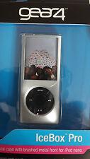 Elegante Gear 4 Argento Cristallo rigido pelle caso GHIACCIAIA Pro per iPod Nano + Cordino