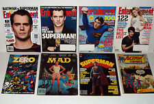 SUPERMAN v BATMAN 8 ISSUE MAGAZINE LOT ENTERTAINMENT WEEKLY FAMOUS MONSTERS NEW