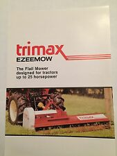 TRIMAX Ezeemow Flail Mower for Compact Tractors 1980s Vintage Sales Brochure