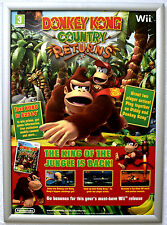 Donkey Kong Country Returns RARE NINTENDO Wii 42cm x 60cm Promo Poster