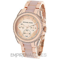 *NEW* MICHAEL KORS LADIES BLAIR ROSE GOLD GLITZ WATCH - MK5943 - RRP £279