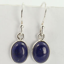 Handmade Jewelry Earrings 925 Solid Sterling Silver Real LAPIS LAZULI Gemstones