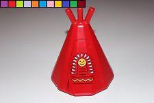 Lego Duplo - Tipi Indianerzelt Zelt - mit Tür - rot - Gebäude - Indianer Cowboy