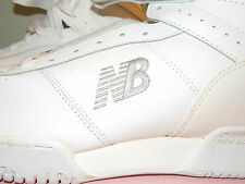 NEW 1990's All White Leather New Balance Hi-Top Sneakers Men's Size 9 D