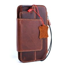Genuine retro leather Case fit iphone 6s plus book wallet magnetic cover 6 + R