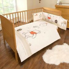 East Coast Winnie The Pooh Neutral Cot / Cotbed Bedding Set - Quilt & Bumper