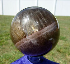 Aragonite & Fluorite Crystal Sphere Ball Healing Stone Super Rock Purple Ring