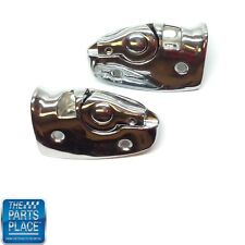 1964-65 GTO / Chevelle Convertible Sunvisor Brackets - Chrome - Pair