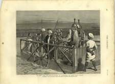 1875 Ferry At Kantara On The Suez Canal, Camels, Ass
