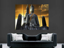 BUDDHA TEMPLE POSTER THAILAND RELIGION BUDDHISM WALL ART HUGE IMAGE