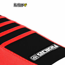 2010-2013 HONDA CRF 250 Ribbed SEAT COVER Red/Black/Red Ribs by Enjoy MFG