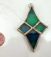 Stained Glass Sun Catcher Hand Made Used Lot of 3 (See Each Pic for The Lot)