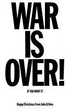 JOHN LENNON *WAR IS OVER* 11x17 REPLICA POSTER