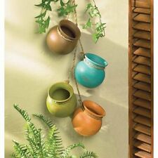 Mini Dangling Ceramic Planting Pot Set Indoor Outdoor Herbs Flowers Decor