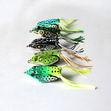 5 Pcs Toad Soft Plastic Hollow Fishing Lure Crankbait Hooks Bass Bait Frog
