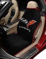 Corvette C5 C6 Seat Armour Towels w/ Logos - 3 Color Choices - Great For Summer!