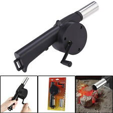 Hand Crank BBQ Fan Cooking Air Blower Fire Bellow Outdoor Picnic Cooking Tools