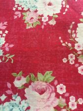 Fat Quarters - Roses On A Red Background. TILDA 100% Cotton