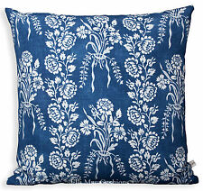 William Yeoward Amandine Blue Linen Designer Fabric Cushion Pillow Cover