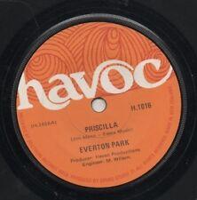 """EVERTON PARK   Rare 1972 Aust Only 7"""" Mint OOP Havoc Rock Single """"Priscilla"""""""