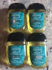 stress relief eucalyptus spearmint Lot Of 4 Hand Sanitizers Bath And Body Works