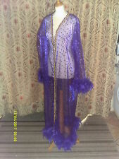 Drag Queen Purple Coat with purple feathers 20/22