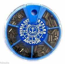 ANCHOR STYLES 6 DIVISION DISPENSER LARGE NON-TOXIC DOUBLE CUT FISHING WEIGHTS