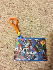 Six Flags Plastic Ticket/Picture Holder, With Clip