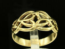R006 - Lovely Genuine SOLID 9ct Yellow Gold Celtic KELTIC KNOT Ring size T