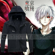 Anime Tokyo Ghoul Kaneki Ken Hoodie Sweat Shirt Coat Unisex Black Zip Up Jacket