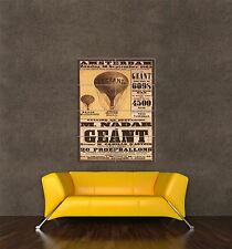 GIANT PRINT POSTER VINTAGE AD AVIATION BALLOON AMSTERDAM NETHERLANDS PDC081