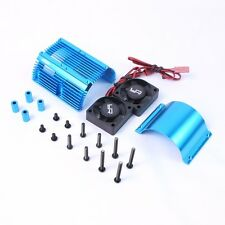 Yeah Racing Blue 1/8 Aluminum Motor Heat Sink W/ Dual Cooling Fans YA-0261BU