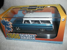 GREENLIGHT 1/43 HOBBY EXCLUSIVE BLUE 1966 CHEVROLET SUBURBAN