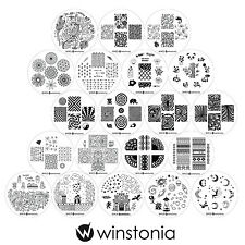 Winstonia 4TH GEN Nail Art Stamping Plates Set Bundle 20pc Manicure Stencil Cute