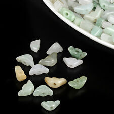 15PCS Natural Grade A Jade (Jadeite) Yuanbao Beads / Size:11mm (Wholesale)