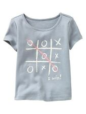 AUTH. BNWT GAP BABY GIRLS GLITTER GRAPHIC TEE (12-18 mos.)