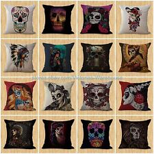 lot of 15 wholesale cushion covers Day of the Dead sugar skull modern throw