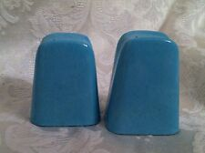 Vintage Royale Dinnerware Mid Century Retro Turquoise Salt Pepper Shakers 1950's