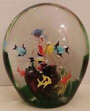Large Murano Art Glass Fish Aquarium Sculpture