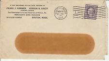 """Stamps  United States  Cover  'Perfin'   """"P / L T""""  Enclosures  1917"""