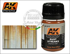 AK-Interactive Enamel Colour - Rust Streaks (Rusty Wash Effect) 35ml #AK-013