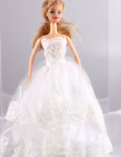 Wholesale Handmade White The original soft clothes dress for barbies doll 1104