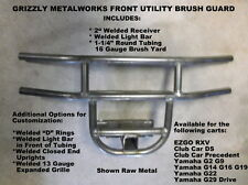 "GRIZZLY GOLF CART CLUB CAR PRECEDENT FRONT BRUSH GUARD LIGHT BAR & 2"" RECEIVER"