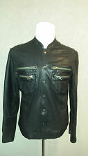 AllSaints 'Ramones Shirt' Man's Real Leather Jacket Size: M/L in VERY GOOD Cond
