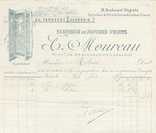 Paris X ème - Belle Entête Au Paravent Japonais T. MOUREAU du 20/06/1895