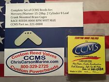CCMS Mercury/Mariner Racing Outboard Reed 15-28hp 2 Cyl. 8 Leaf Brass PN221-08BR