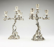 Pair of Wolfers Freres Silver Candelabra, Circa 1900